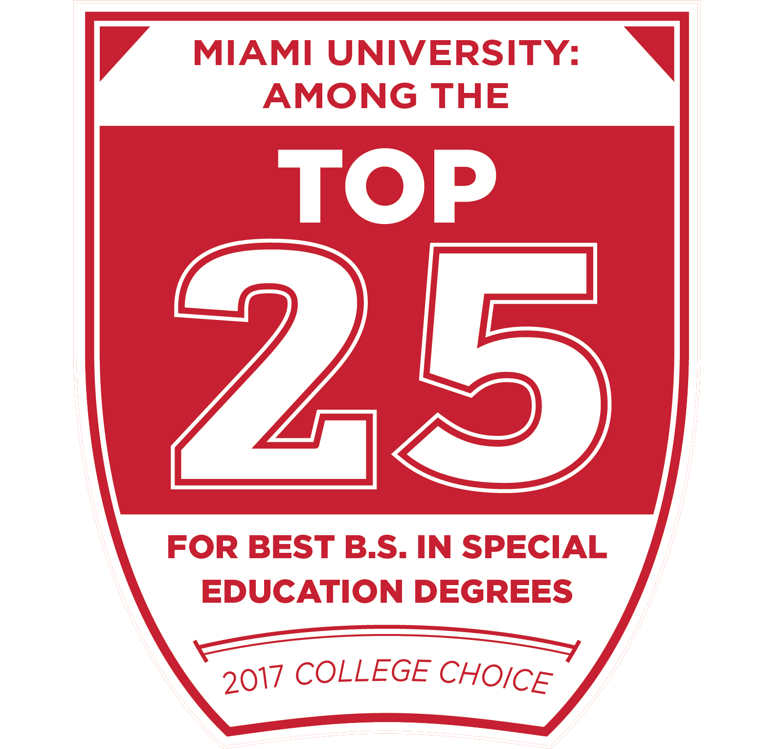 Miami University among the top 25 for best B.S.  in special education degrees by College Choice 2017