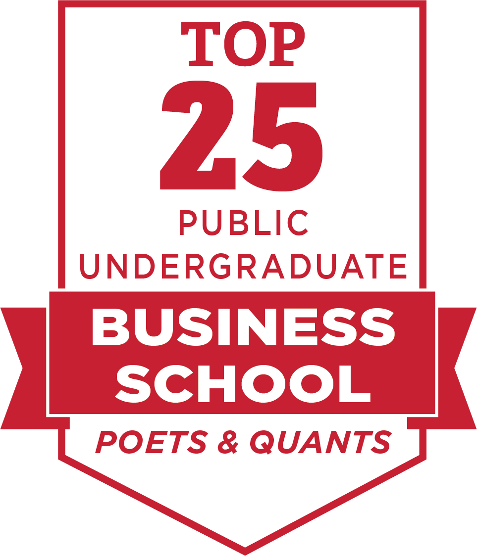 Top 25 public undergraduate business school by Poets and Quants