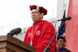 President Hodge at 2015 Commencement