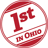 1st in Ohio diagonally in a red circle