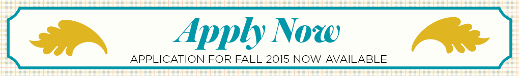 Fall 2015 application now available