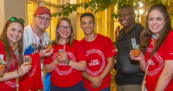 Admitted students celebrate at orientation. Learn about this incoming class.