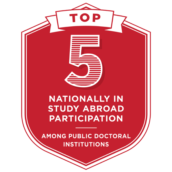 Third in study abroad participation among public doctoral institutions.