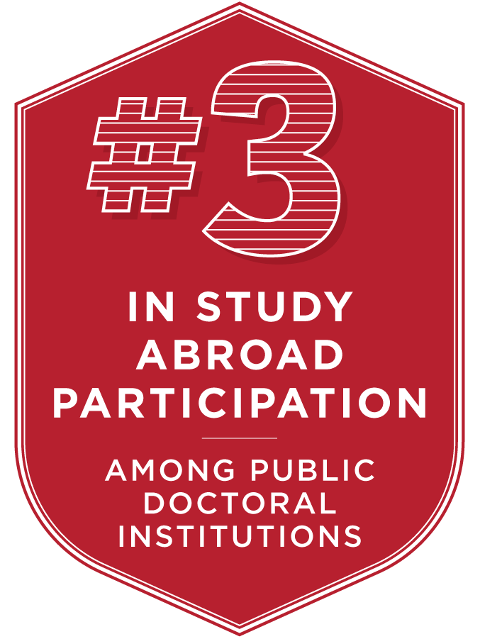 3rd in study abroad participation among public doctoral institutions.