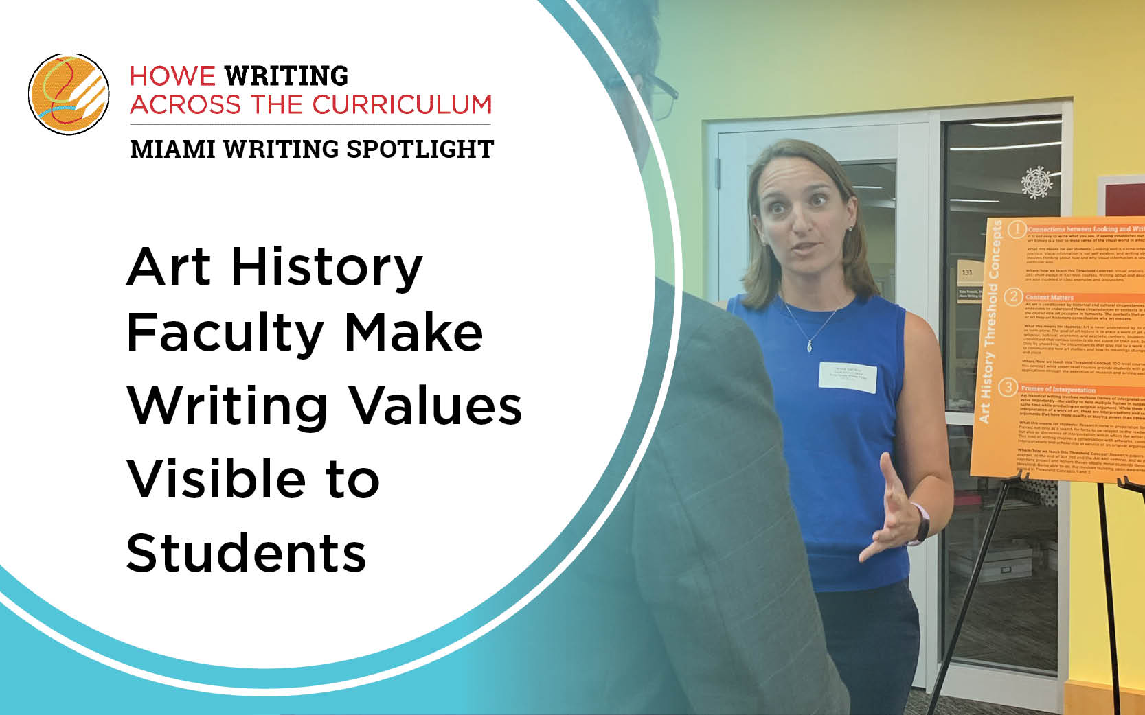Art history faculty make writing values visible to students.