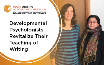 Development psychologists revitalize their teaching of writing