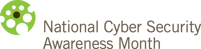 Green wheel next to the words National Cyber Security Awareness Month