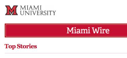 Miami Wire e-newsletter screenshot