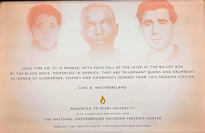 The Freedom Summer Memorial on Western Campus (photo by Scott Kissell)