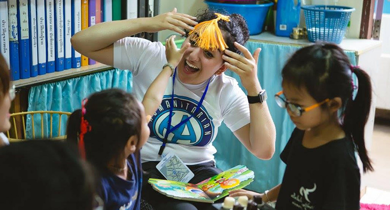 Miami student Sara Al-Zubi spent time working with young children in Bangkok while participating in the 2017 Humanitarian Affairs University Scholars Leadership Symposium.