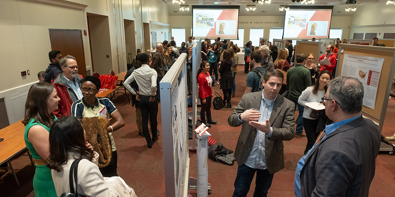 The Graduate Research Forum featured 150 student presenters and 50 alumni judges.