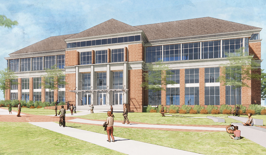 Construction of the Richard M. McVey Data Science Building (rendering above) is planned to begin in late spring 2021.