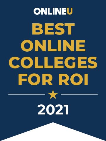 best-online-college-for-roi-badge