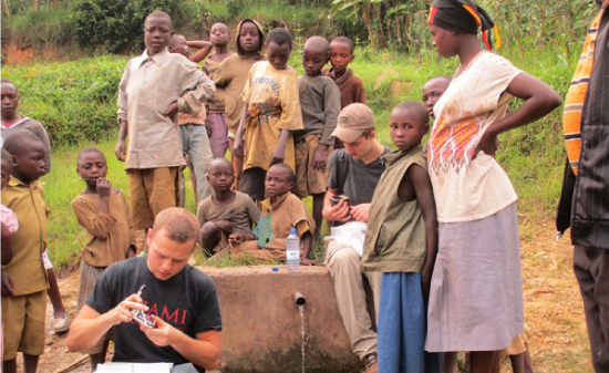 Students abroad helping local communities test their water supply