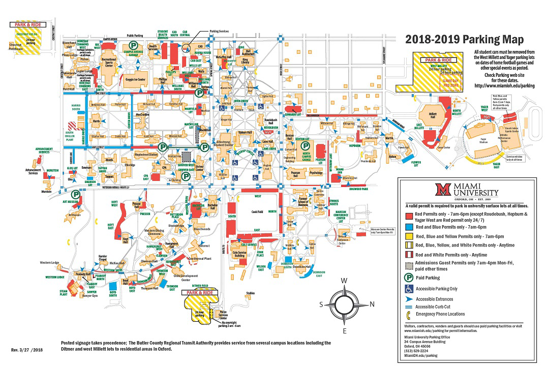miami hamilton campus map Frequently Asked Questions Parking And Transportation Miami miami hamilton campus map