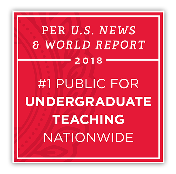 Per US News & World Report 2017 - #1 Public for undergraduate teaching nationwide