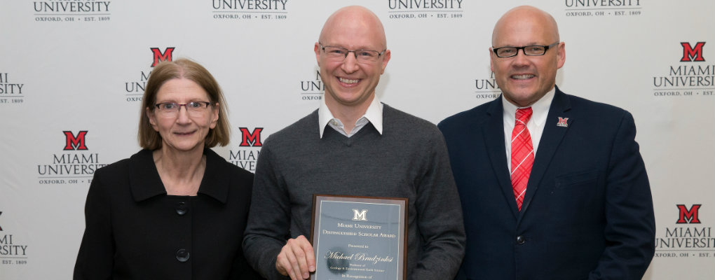 Mike Brudzinski - Distinguished Scholar Award - 2019