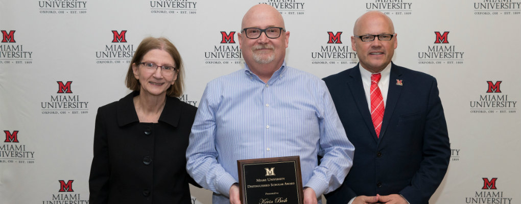 Kevin Bush - Distinguished Scholar Award - 2019