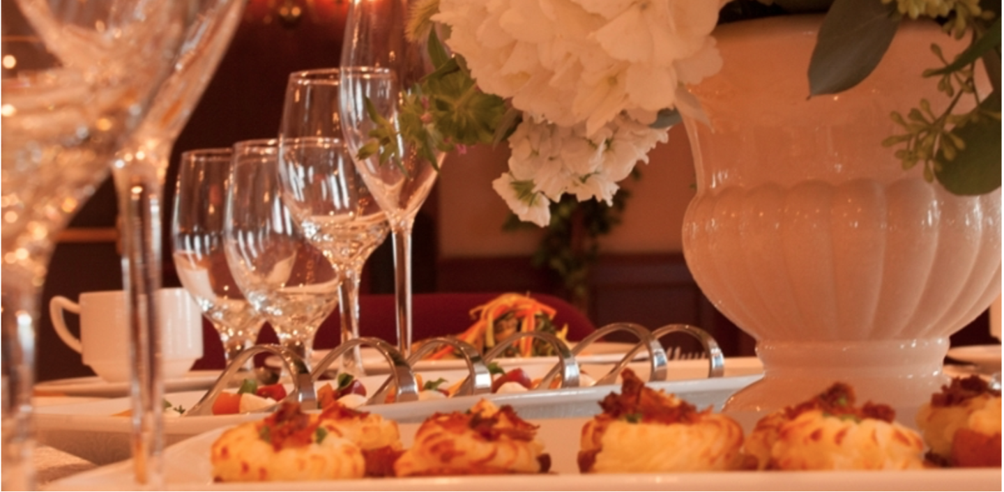 Shown is an image of a place setting.