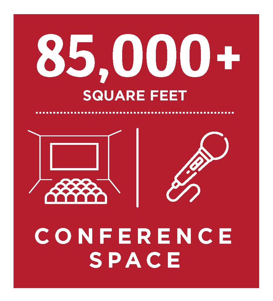 85,000+ square feet of conference space