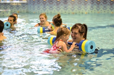 American Red Cross Parent Child swimming lesson