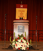 photo of Miami University podium and CAS banner