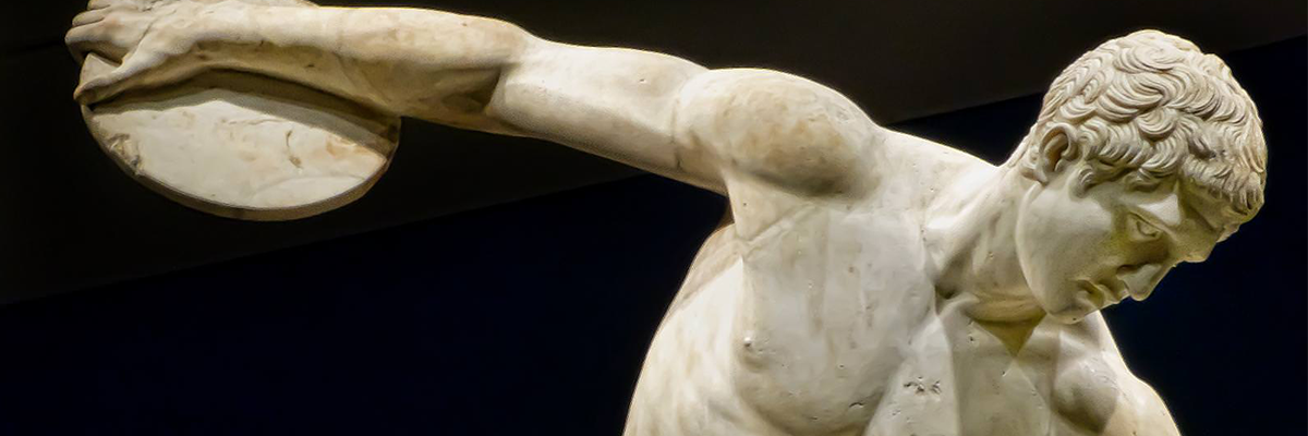 statue of discus thrower