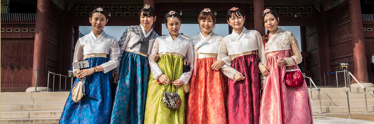 Women Wearing Traditional Korean Dresses