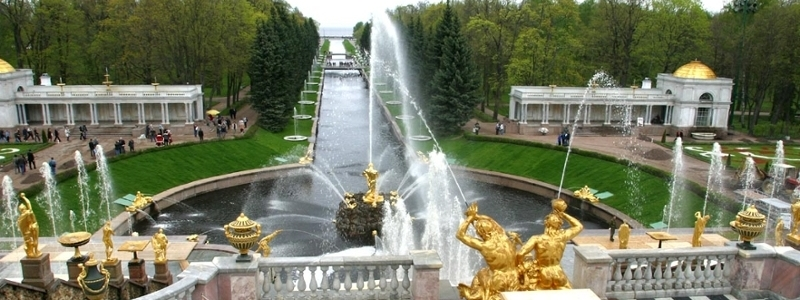 A fountain at St. Petersburg