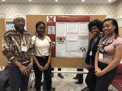 Michelle Afful, Nana Ofosu-Hemma, K.C. Caden, and Tyrone Little at the Undergraduate Research Forum 2019