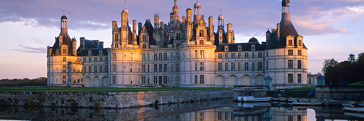 Loire Valley castle at twilight