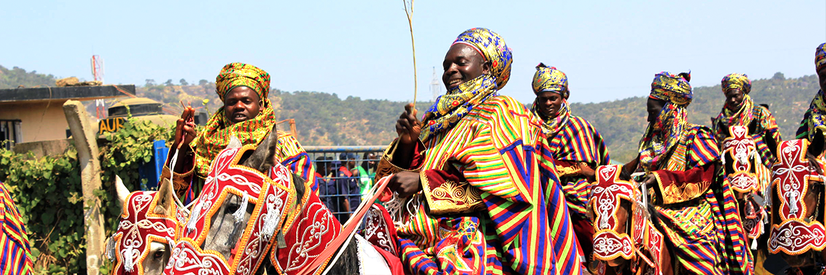 Men at Abuja carnival in Niger