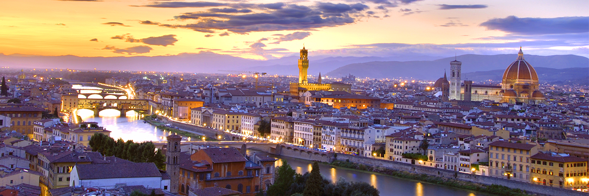 Florence cityscape at sunset