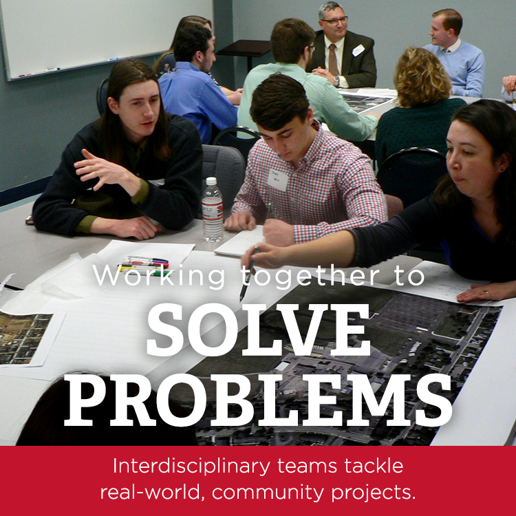 Working together to solve problems | Interdisciplinary teams tackle real-world, community projects
