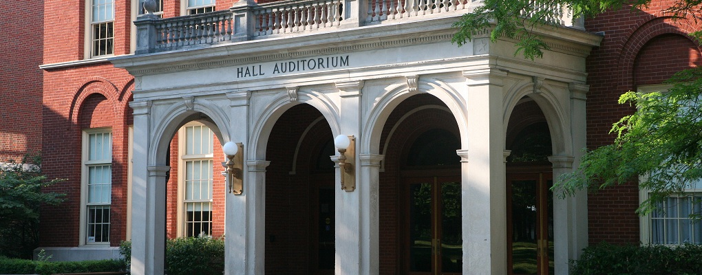 Hall Auditorium, home of the Department of Philosophy