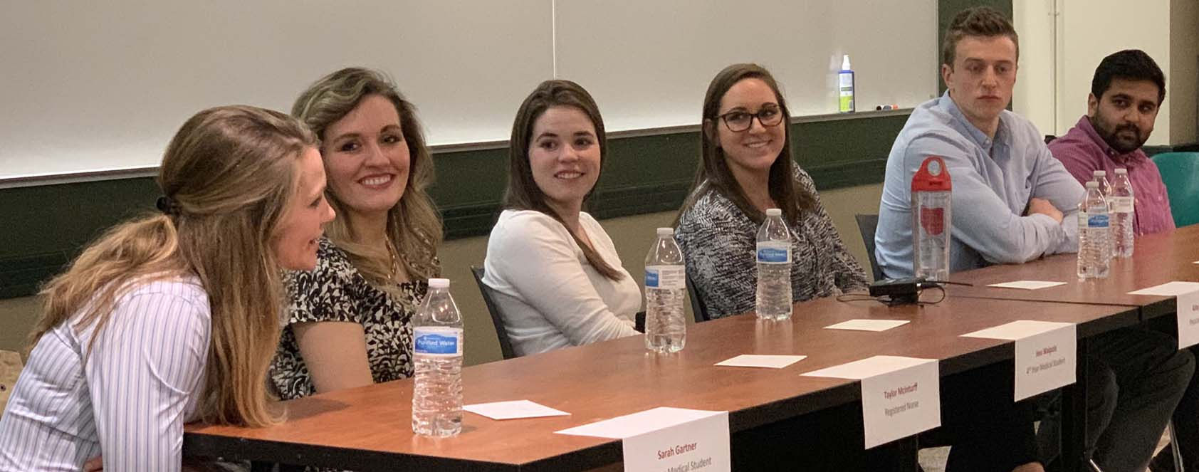Panel of alumni in professional school returning to Miami for Health Careers Week