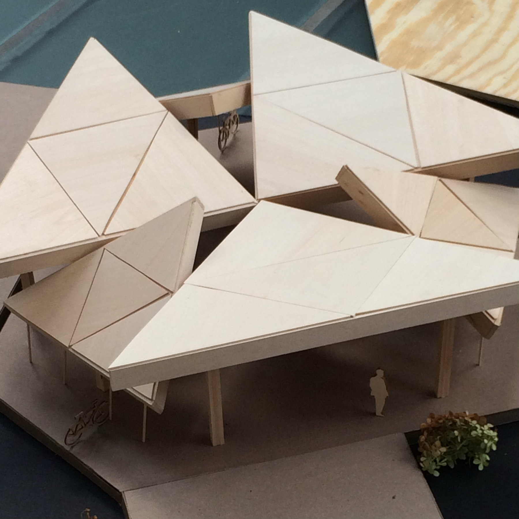 geometrically shaped model of a pavilion