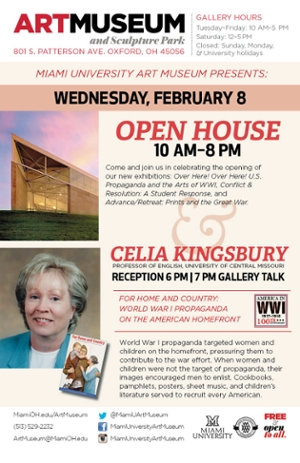 Author Reception and Talk, Celia Kingsbury February 8 6-8 PM