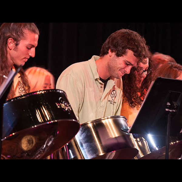 The Miami Steel Drum band in performance