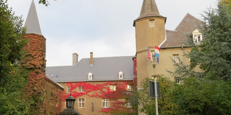 The MUDEC Chateau in autumn