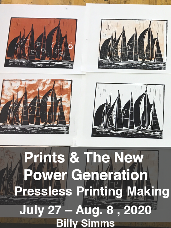 Prints and the revolution: creating monotype and lino block prints. Feb 22-23, 2020. Billy Simms