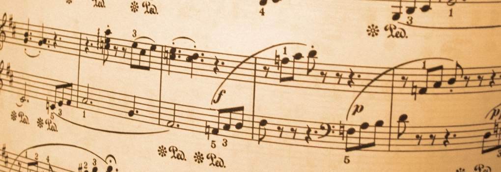 A snippet of piano sheet music