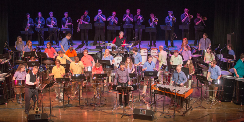 The Steel Band in concert at Hall Auditorium