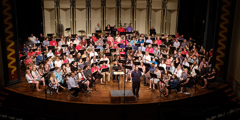 Wind Ensemble 2018 reunion concert, conducted by Gary A. Speck