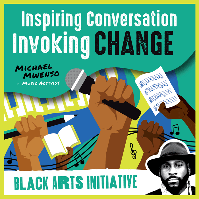 Inspiring Conversation Invoking Change text on graphic