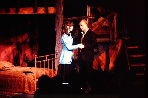 Polly and Macheath in Threepenny Opera