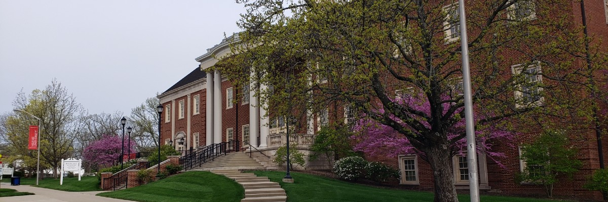 Benton hall in the Spring