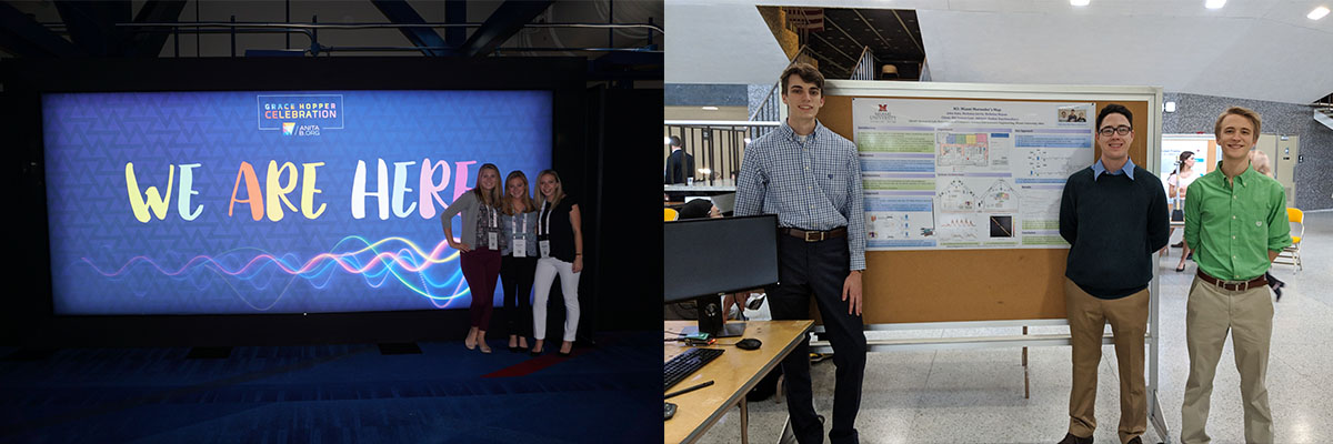 Students attending the Grace Hopper conference and a senior design project