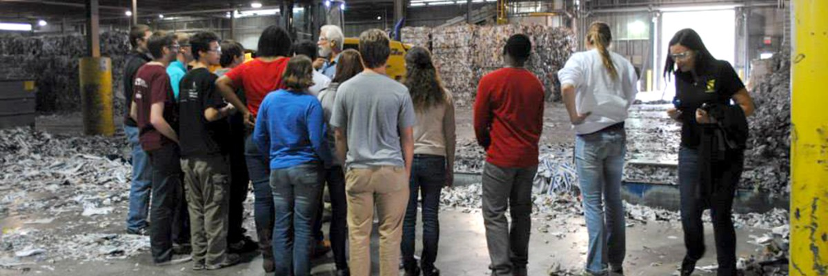 Paper students visiting a paper mill