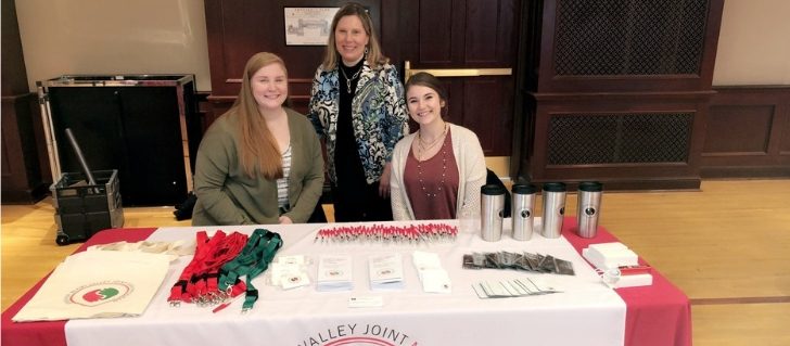 Dr. Amy Roberts and 2 MASW Graduate students - Amy Daily (L) and Jenna Neff (R) at the Grad Blitz